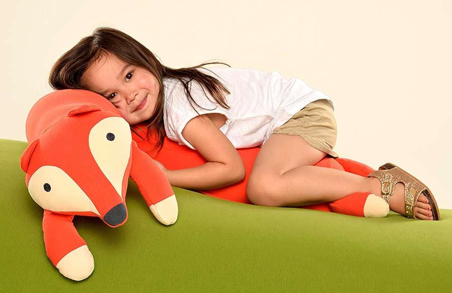 Yogibo Roll Mate 3.5 Foot Body Pillow for Kids (Fox)