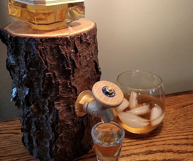 The Real Wood Log Liquor Dispenser - New and Improved