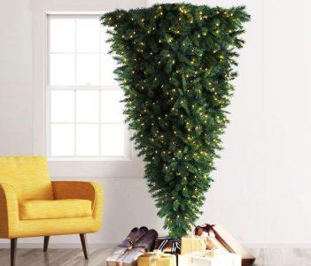 Upside Down Artificial Christmas Tree
