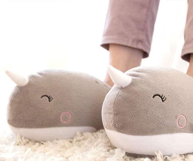 AdSmoko Adorable Unicorn Narwhale Heated Slippers