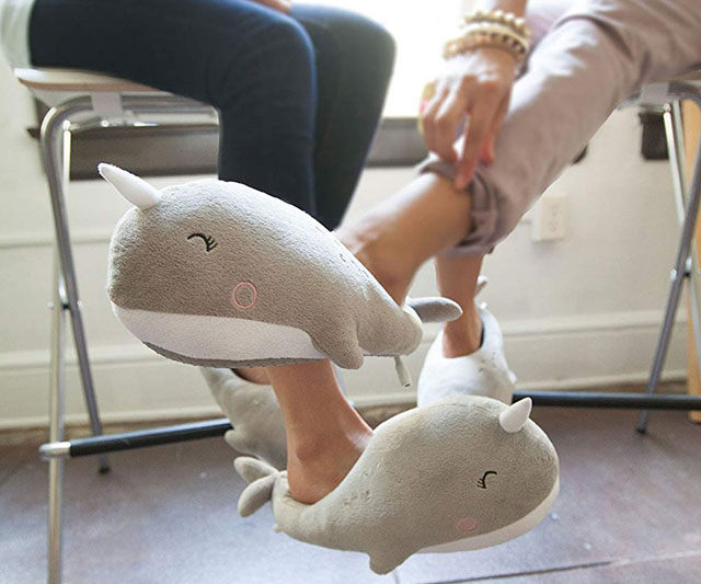 Adorable Unicorn Narwhale Heated Slippers