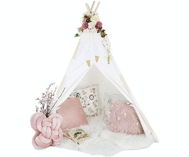 Kids Teepee Tent for Kids - With Fairy Lights - Best Gift Ideas For Everyone