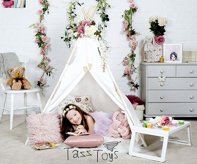 Kids Teepee Tent for Kids - With Fairy Lights