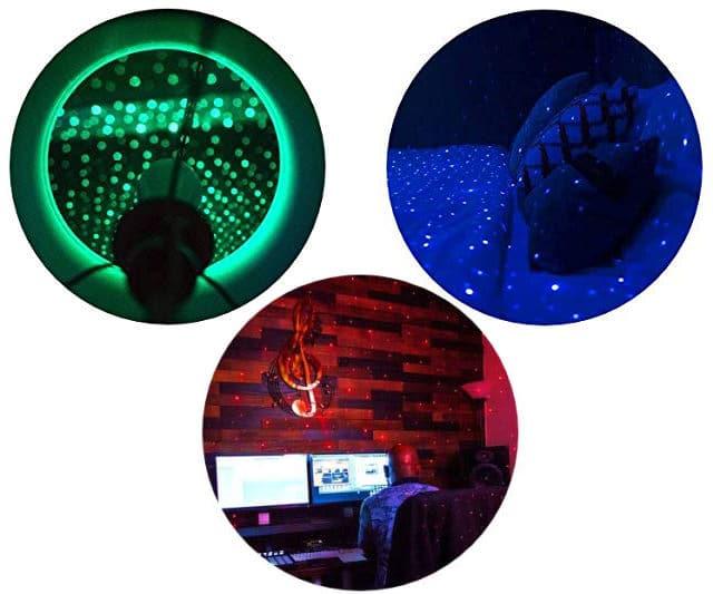 BlissLights Starport USB Laser Light colors