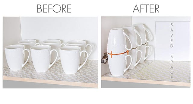 ELYPRO Coffee Mug Organizers Before After
