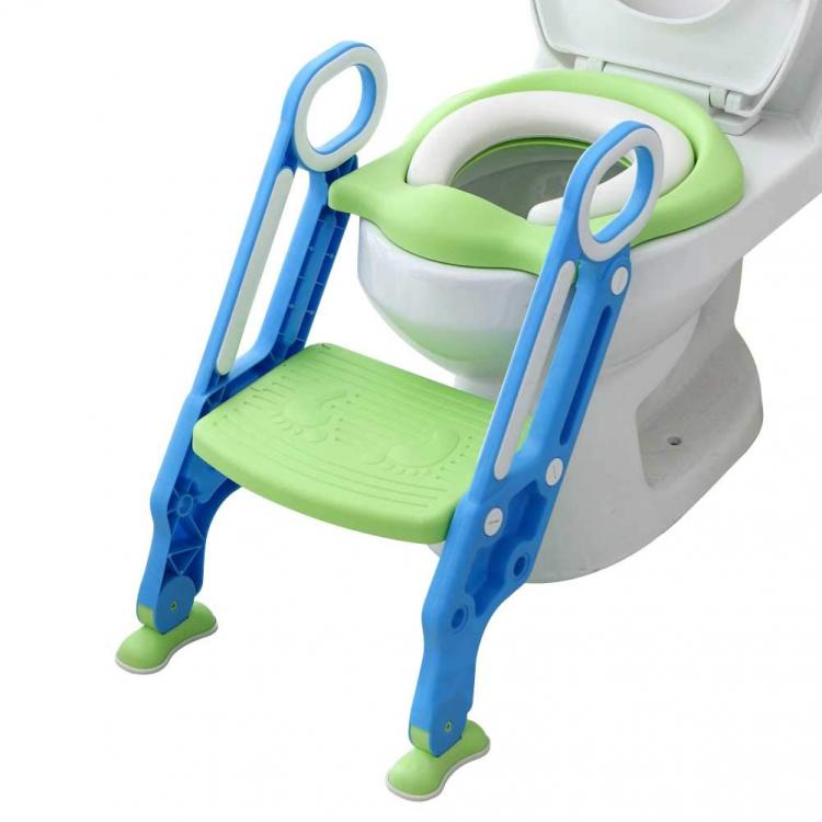 All in one toddler toilet trainer potty seat with step ladder