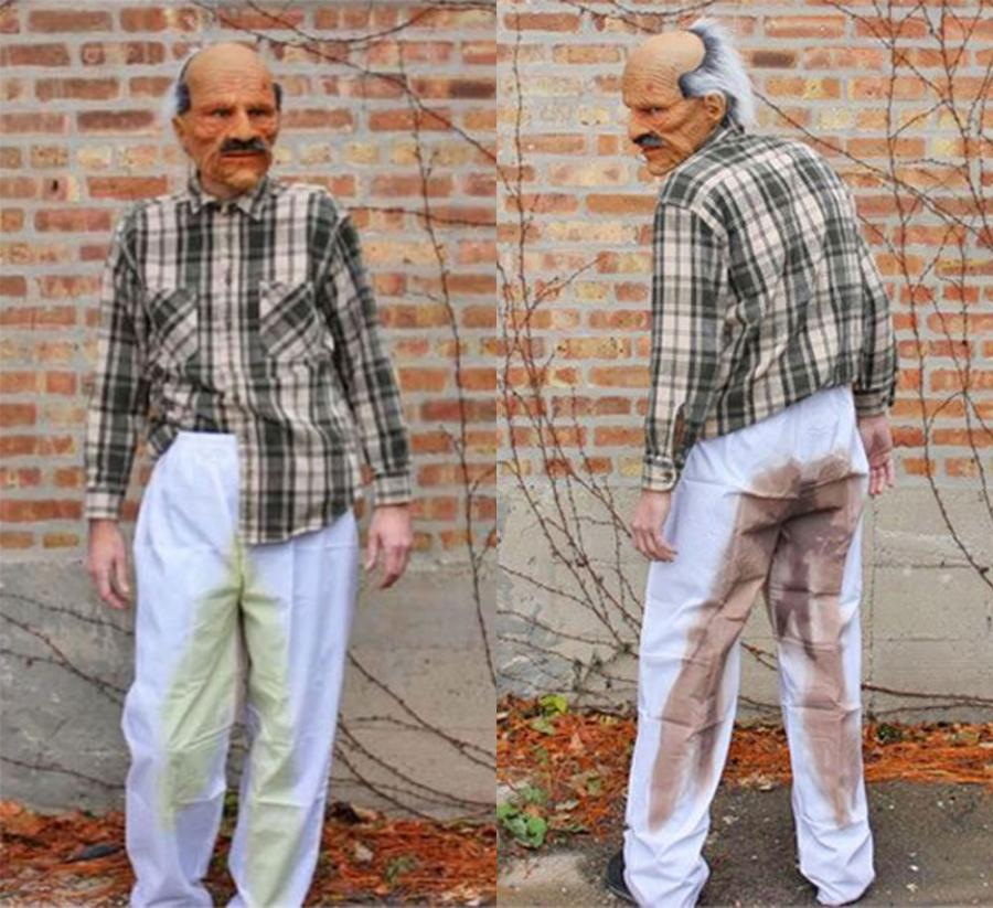 Funny Pee & Poo Pants Costume For Halloween