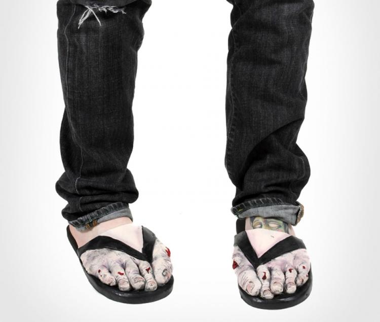 Loftus International Adult Latex Zombie FEET Costume Sandals Large