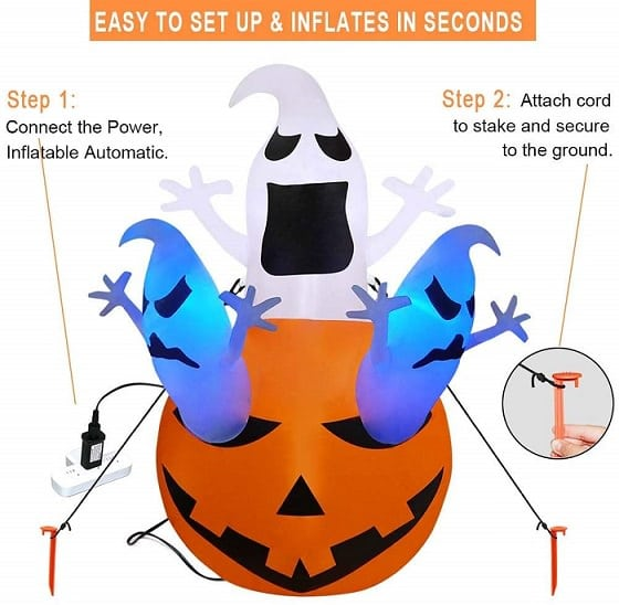 Halloween Airblown Inflatable Decoration Pumpkin Ghost