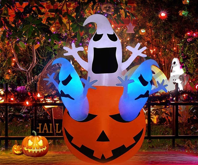 PETUOL Halloween Inflatable Decoration Pumpkin Ghost