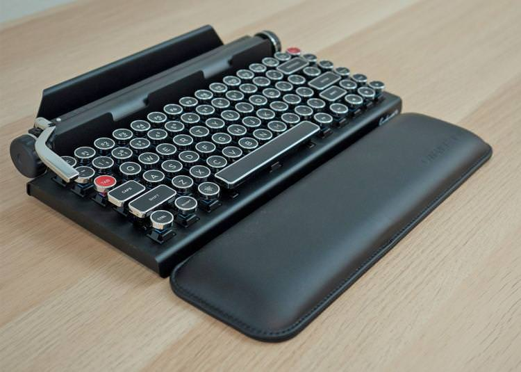 The new Qwerkywriter S features German made Cherry MX clicky switches